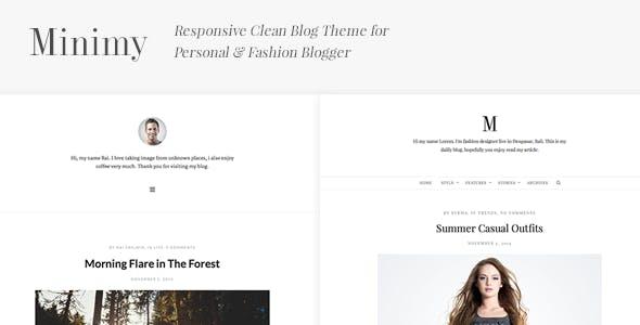 Minimy - Responsive Clean Personal & Fashion Blog