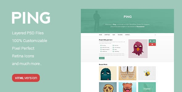 Ping Minimal Responsive Html Template Photo Gallery Personal