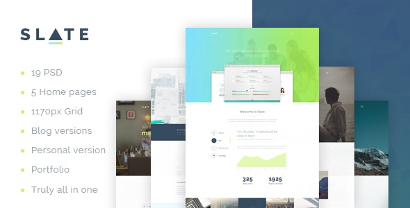 Slate - A Real Multipurpose Corporate Template by