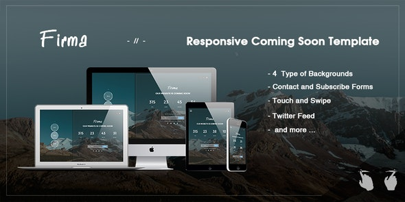 Firma -  Responsive Coming Soon Template - Under Construction Specialty Pages