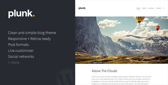 Plunk - WordPress Blog Theme - Blog / Magazine WordPress