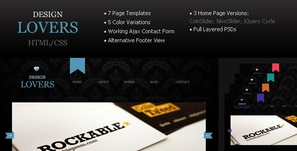 Design Lovers - Html/CSS Template - Creative Site Templates