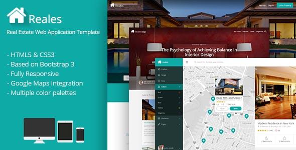 Reales - Real Estate Web Application Template