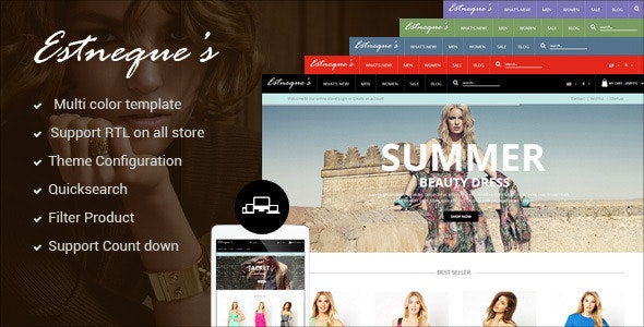 PrestaShop Responsive Fashion Theme - EstNeque - Fashion PrestaShop
