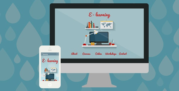 E-learning / Courses & Workshops Muse Template - Landing Muse Templates