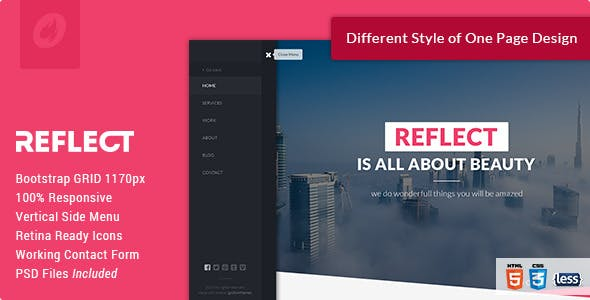Side Menu Html Website Templates From Themeforest
