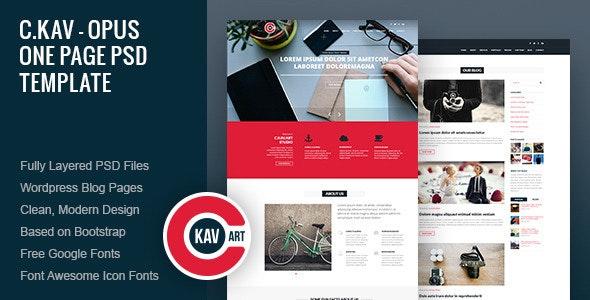 C.Kav - Opus One Page PSD Template - Creative Photoshop
