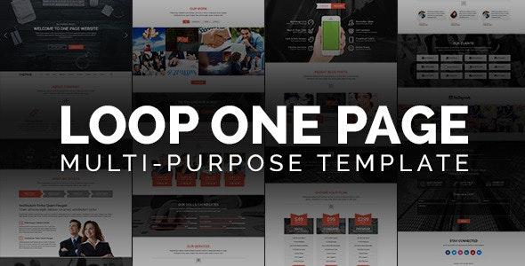Loop - One Page Multipurpose Website Template by AliA
