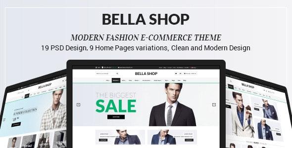 Bella Shop - eCommerce PSD Template - Retail Photoshop