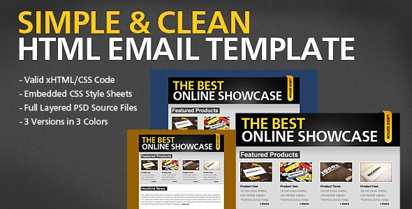 Simple & Clean HTML Email Template - Newsletters Email Templates