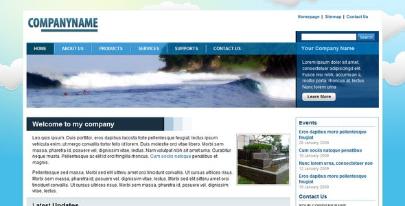 Blue Nature Corporate / Business Layout - Environmental Nonprofit