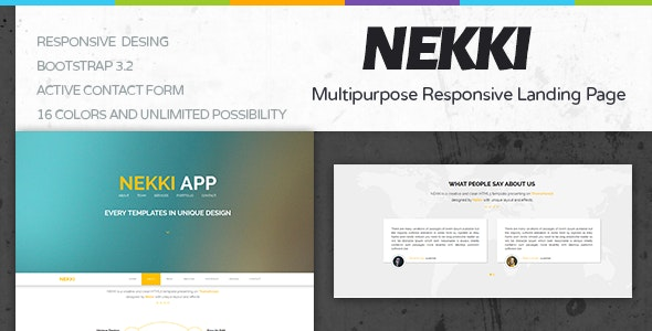 Nekki Creative HTML Template - Creative Landing Pages