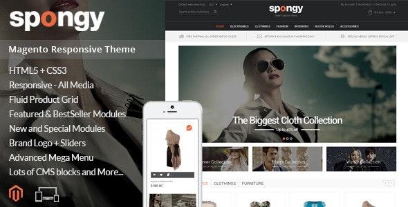 Spongy - Magento Responsive Theme - Fashion Magento