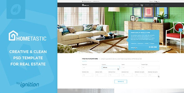 Hometastic - Real Estate PSD Template - Business Corporate
