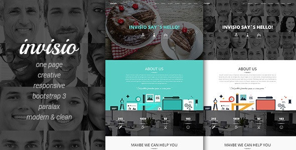 Invisio Business - Creative Onepage Template - Business Corporate