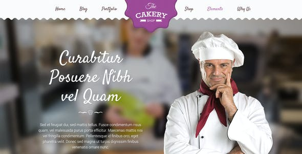 Cakery - Cake and Bakery HTML Template