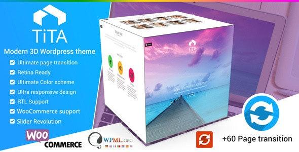 Tita 3D - Modern WordPress Theme - Creative WordPress