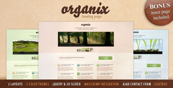 Organix - Simple Product Oriented Landing Page - Health & Beauty Retail