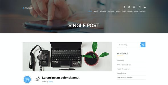 ENMIT - One Page MultiPurpose Parallax