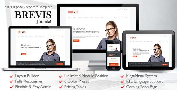 Brevis MultiPurpose Corporate Joomla Template - Business Corporate