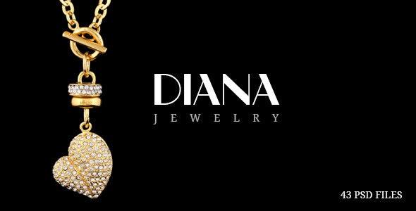 Diana - Creative Jewelry PSD Template - Fashion Retail