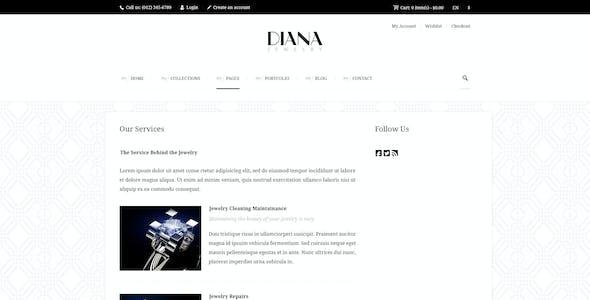 Diana - Creative Jewelry PSD Template