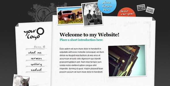 Sliding Content jQuery XHTML Portfolio (5pg) - Creative Site Templates