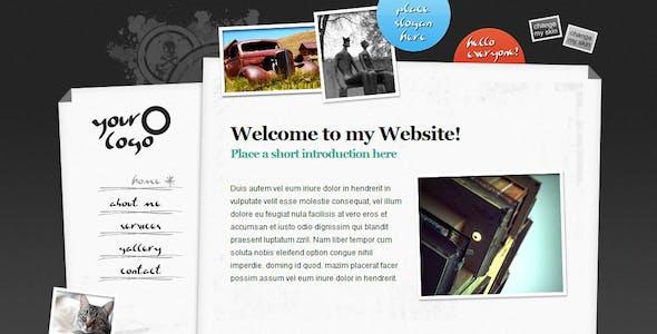Sliding Content jQuery XHTML Portfolio (5pg)