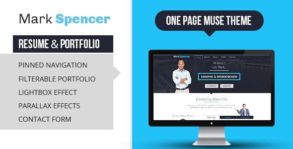 Business Portfolio & Resume Muse Template - Creative Muse Templates