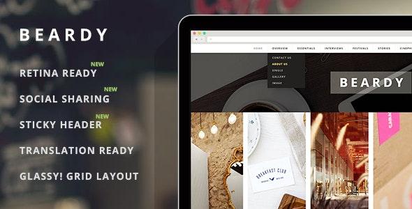 Beardy - Responsive Personal WordPress Blog Theme - Personal Blog / Magazine