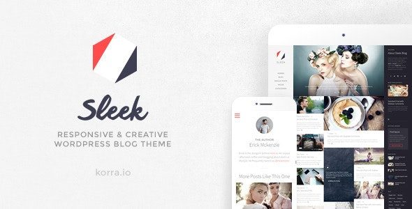 Sleek | Responsive & Creative WordPress Blog Theme - Personal Blog / Magazine