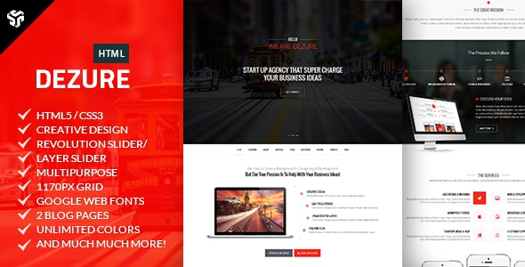 Dezure | Responsive OnePage Multi-Purpose Parallax - Creative Site Templates