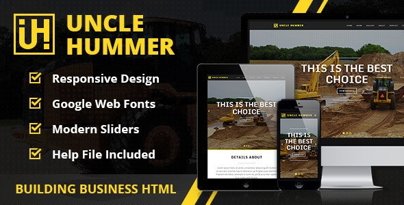 Uncle Hummer - Responsive HTML Building Template - Business Corporate