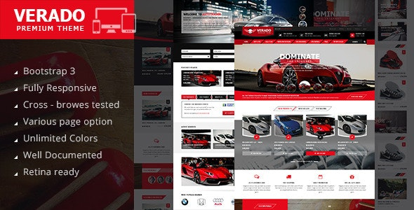Verado - profesional HTML5 Template - Corporate Site Templates