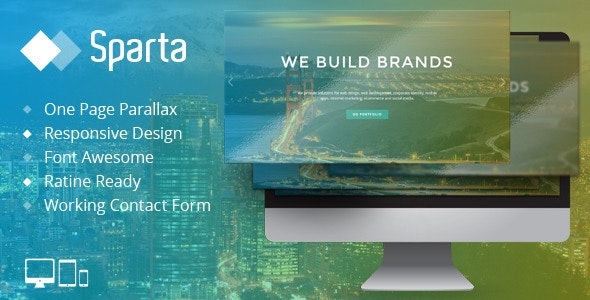 Sparta - Responsive One Page HTML Template - Portfolio Creative