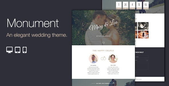 Monument - Responsive Wordpress Wedding Theme - Wedding WordPress