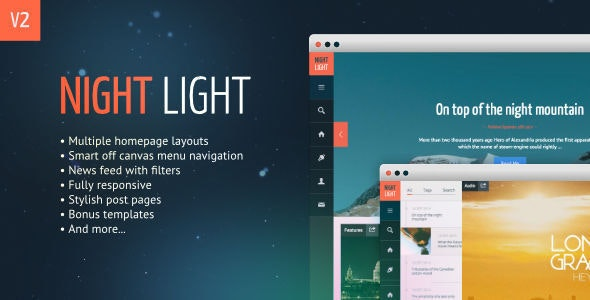 NightLight - Responsive, Multi-Purpose Ghost Theme - Ghost Themes Blogging