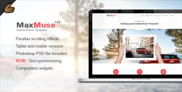 MaxMuse - One Page Muse Template by Xstyler | ThemeForest