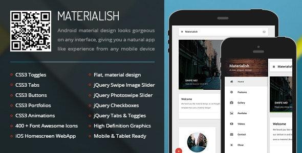 Materialish Mobile - Mobile Site Templates