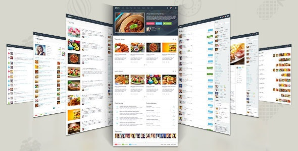 """Gustos - The complete UI for a """"recipe website"""" - Food Retail"""