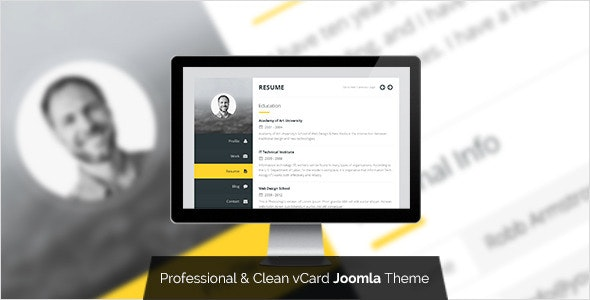 Premium Layers: Joomla vCard & Resume Template - Personal Blog / Magazine