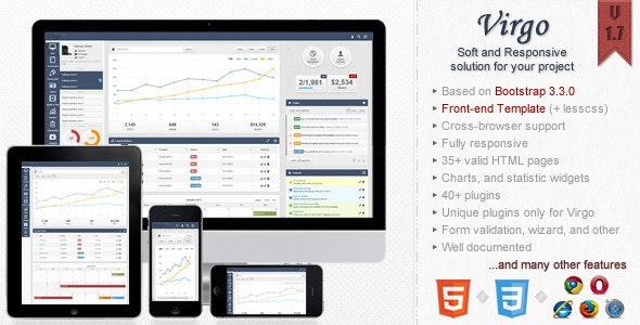 Virgo - Responsive Bootstrap 3 Admin Template - Admin Templates Site Templates