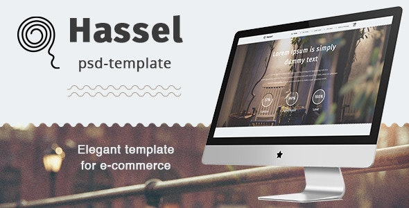 Hassel PSD Template - Fashion Retail