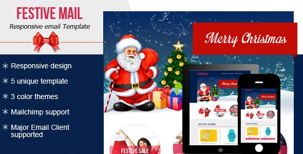 Festive4 Email Newsletter  - Email Templates Marketing
