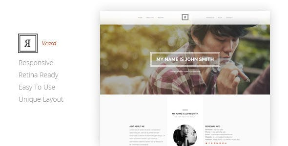 RIVAL One Page Vcard Template