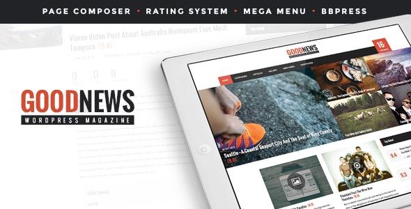 GoodNews - The News, Magazine and Blog Theme - Blog / Magazine WordPress