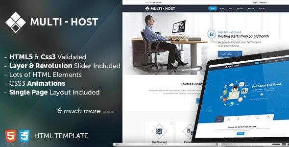 Multi Host - HTML Hosting Template - Hosting Technology