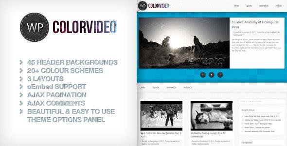 WP Color Video - Blog / Magazine WordPress