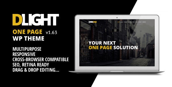 D-Light - One Page Wordpress Creative Template - Creative WordPress