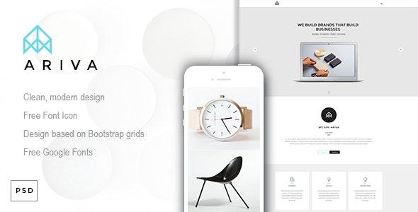 Ariva - One Page PSD Template - Creative Photoshop